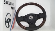 Leather & Wood Steering Wheel